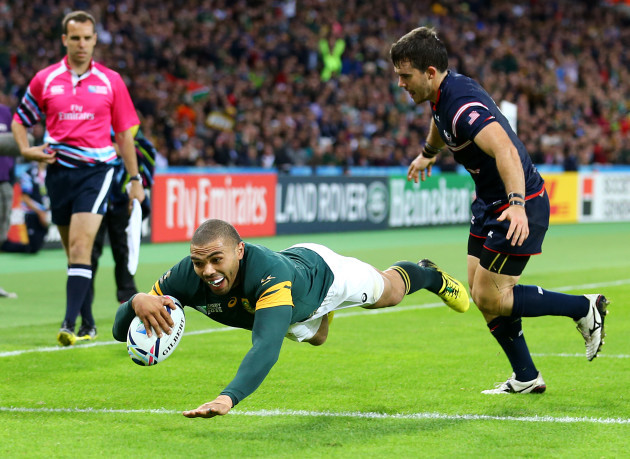 Rugby Union - Rugby World Cup 2015 - Pool B - South Africa v USA - Olympic Stadium