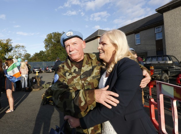 07/10/2015. Irish Troops Return Home. Pictured is