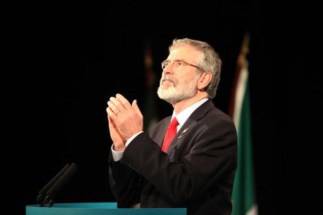 07/03/2015: Sinn Fein President Gerry Adams delive