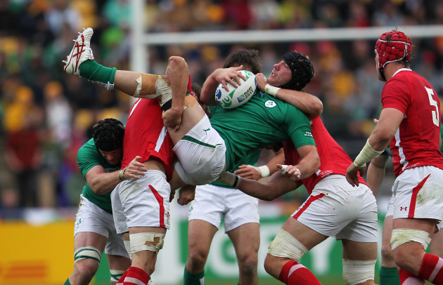 Stephen Ferris gets upended