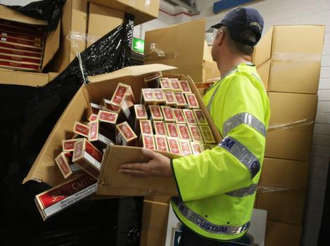 Contraband cigarettes seizure