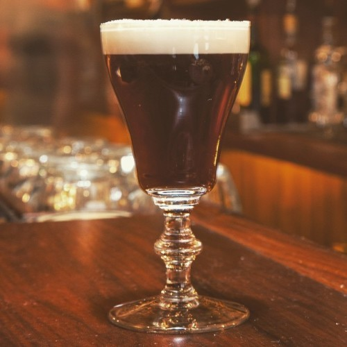 Got the Sunday blues after a glorious Saturday in New York? Our Irish Coffee is renowned for it's restorative powers. Jameson Original Irish Whiskey, Demerara Sugar, Sumatra Mandheling Coffee, Cream & Freshly Grated Nutmeg. #OnlyAtTheDeadRabbit #DrinksOfTheDeadRabbit @jameson_us