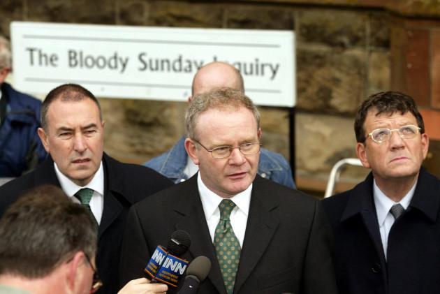 Martin McGuinness Bloody Sunday inquiry