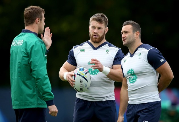 Tommy Bowe, Sean O'Brien and Dave Kearney