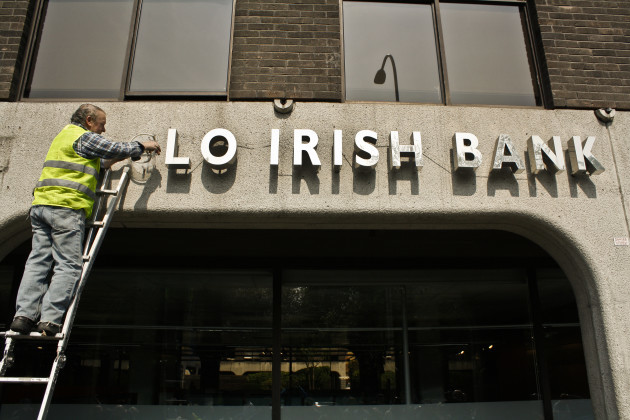 20/4/2011. Anglo Irish Bank Signs Dumped