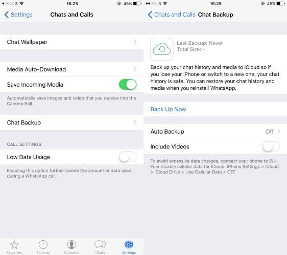 Whatsapp iOS 9