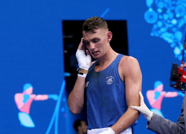Sean McComb dejected after losing