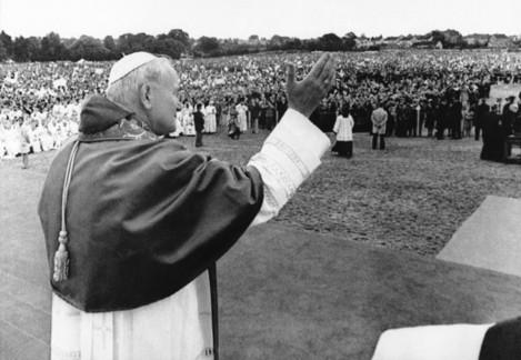 Pope John Paul II at Limerick racecourse