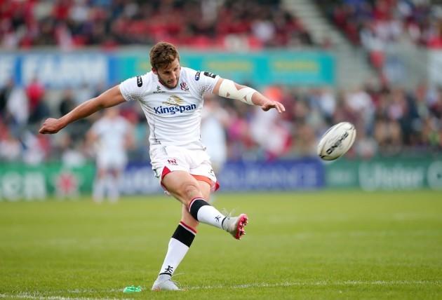 Stuart McCloskey kicks