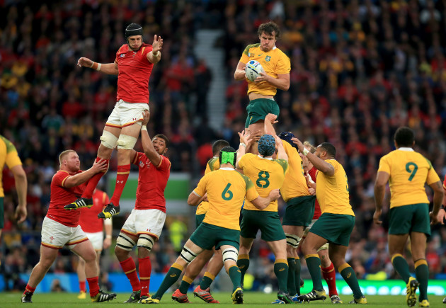 Rugby Union - Rugby World Cup 2015 - Pool A - Australia v Wales - Twickenham Stadium