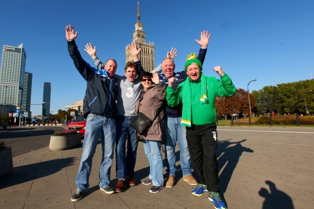 Ireland fans in Poland ahead of the game