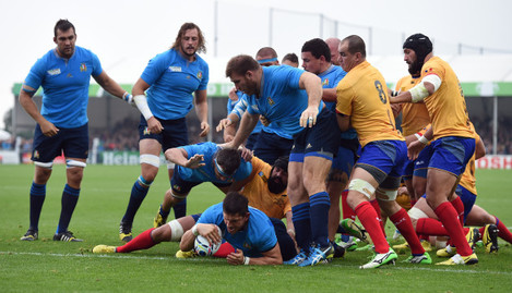 Rugby Union - Rugby World Cup 2015 - Pool D - Italy v Romania - Sandy Park