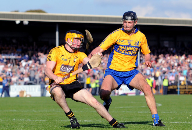 Shane O' Brien with Cathal Malone