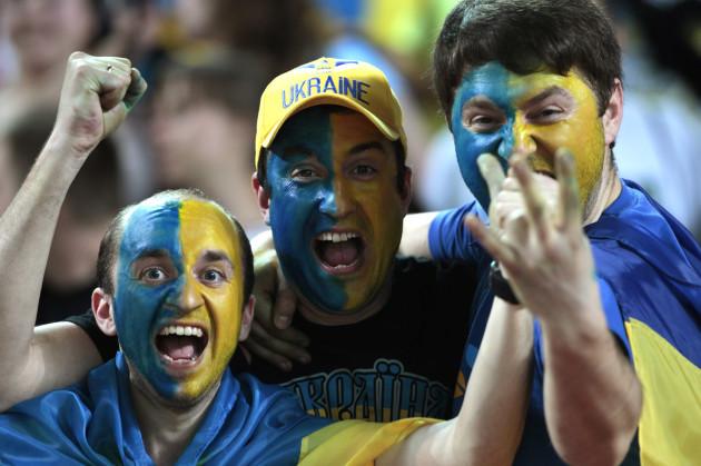 Spain Ukraine Euro Soccer