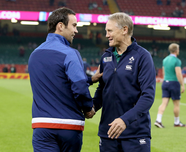Joe Schmidt with Morgan Parra