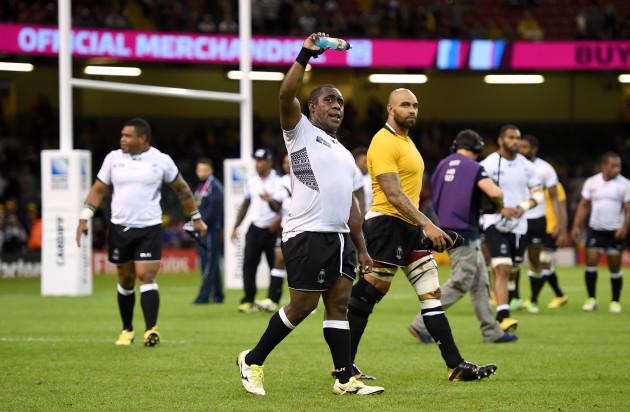 Rugby Union - Rugby World Cup 2015 - Pool A - Australia v Fiji - Millennium Stadium