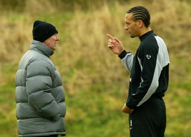 SOCCER Man Utd Training