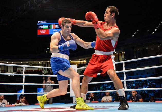 Joseph Ward in action against Elshod Rasulov