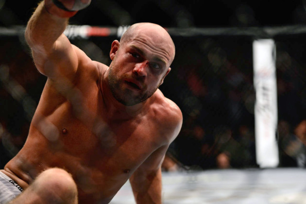 Cathal Pendred after choking out Mike King