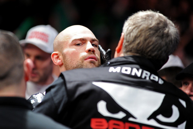Cathal Pendred makes his way to the octagon before the fight