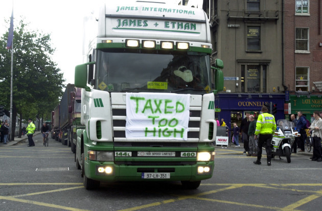 File Photo Road tax for commerical vehicles has been reduced in the budget 2016.