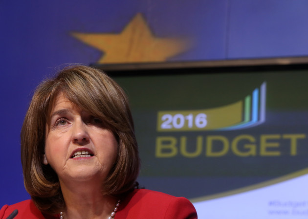 13/10/2015. Budget 2016. Pictured Tanaiste Joan Bu