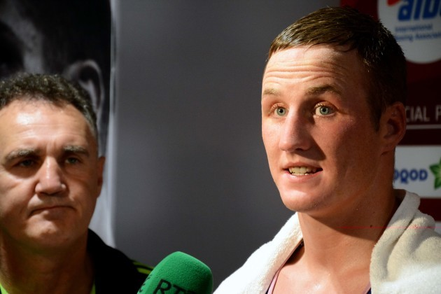 Michael O'Reilly is interviewed by RTE after the fight