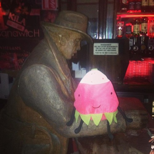 Radish went to Whelans tonight to see The Ex. She thinks she was a punk in a past life #punklife #radishadventures