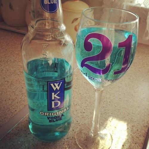 Birthday drink #birthday #birthdaygirl #celebrations #21 #twentyone #alcohol #birthdaydrink #drink #wkdvodka