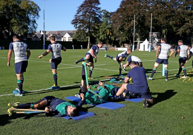 General view of Ireland training