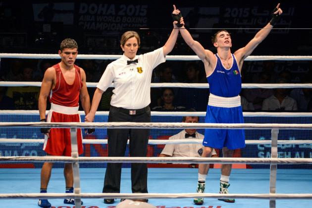 Michael Conlan is declared the winner