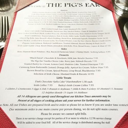 #menu #thepigsear #nassaustreet #dublin #dublinfood #lovedublin #lovindublin #uncoverdublin #discoverdublin #whatsarahate