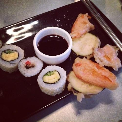Sushi to start.