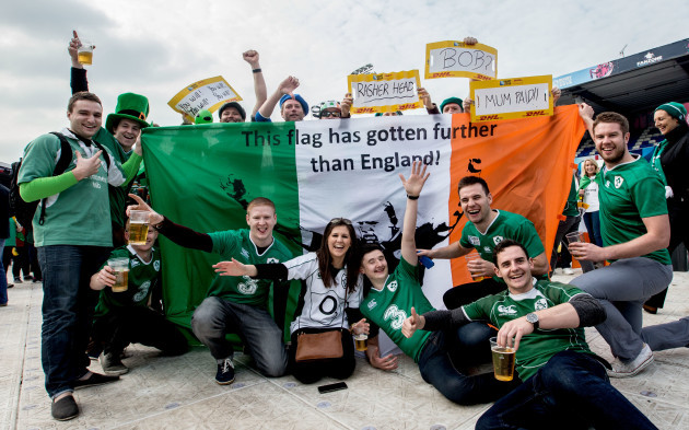 Irish fans before the game