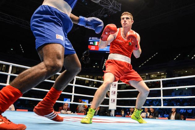 Joseph Ward in action against Julio La Cruz
