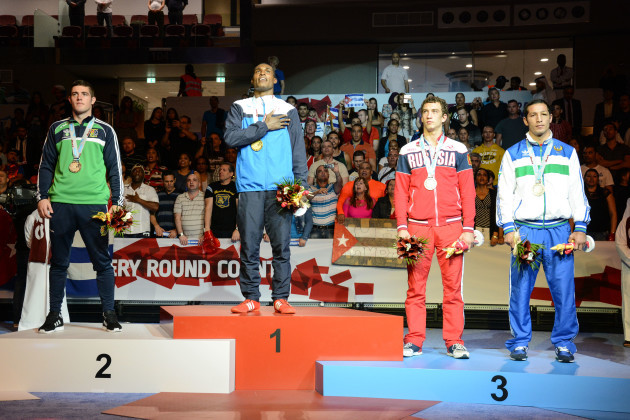 Joseph Ward, Julio La Cruz, Pavel Silyagin and Elshod