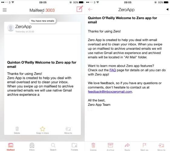 Zero email