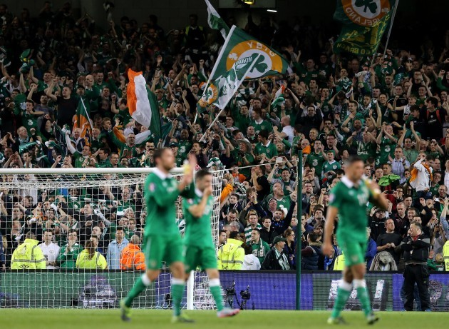 Ireland fans celebrate after the game