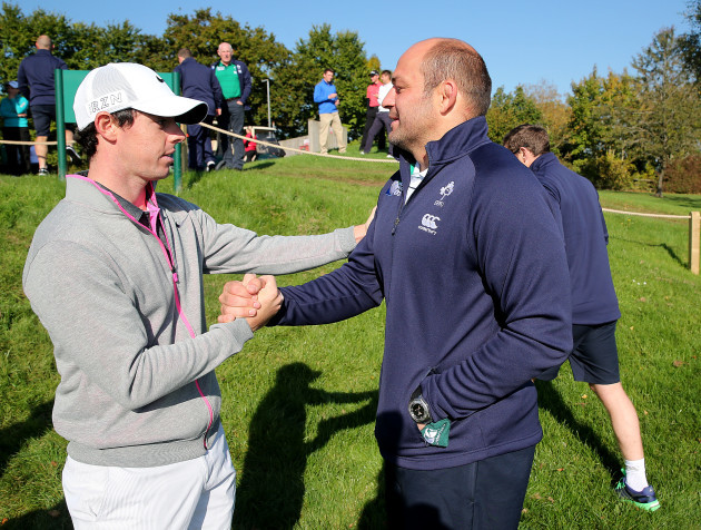 Rory McIlroy with Rory Best