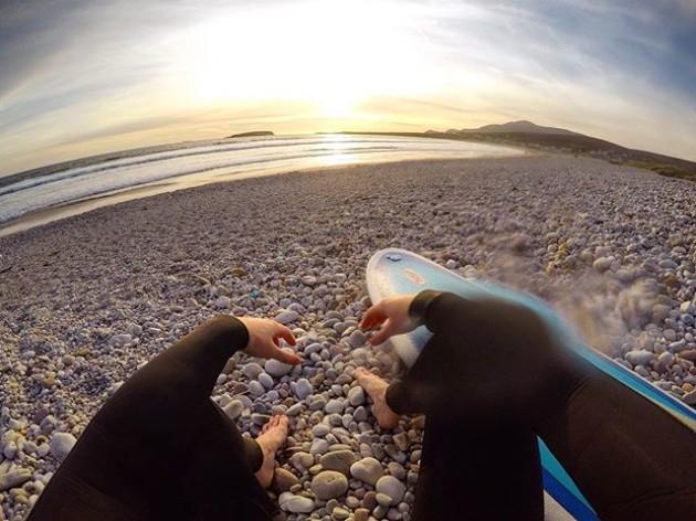 Waves, salt and sunset.