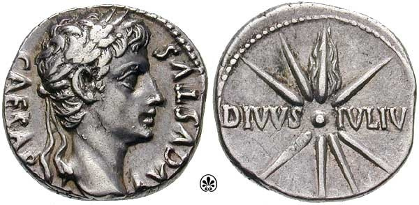 Caesar's Comet on coin of Augustus