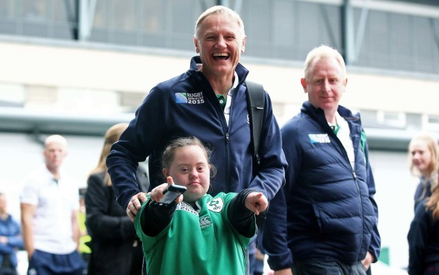 Joe Schmidt with Jennifer Malone