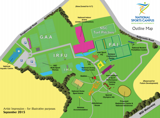 National Sports Campus map