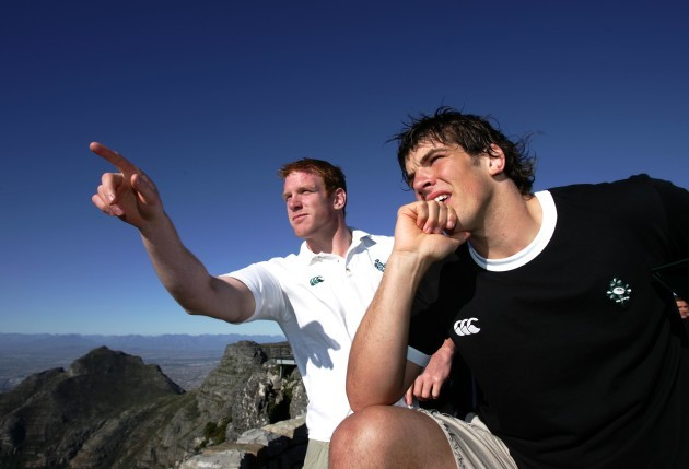 Paul O'Connell and Donncha O'Callaghan