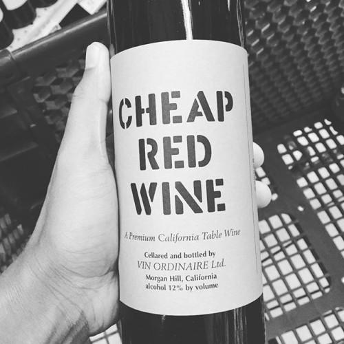 I didn't actually buy this. #cheapredwine #cheapwine #wine