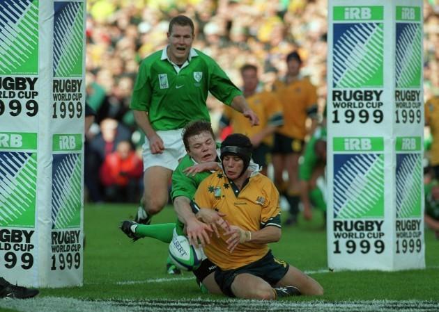 Stephen Larkham and Brian O'Driscoll 10/10/1999