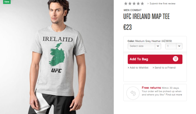 Reebok Ireland tee