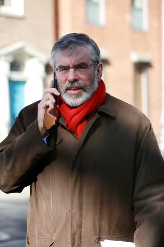 12/3/2013. Sinn Fein Leader Gerry Adams