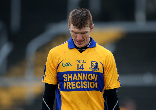 A dejected Niall Gilligan