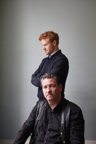 Mark Fitzgerald & Michael Collins in Foxy by Noelle Brown Direted by Oonagh Murphy Produced by Verdant Productions Project Arts Centre Tues 27 October 2015         Photo Tom Lawlo